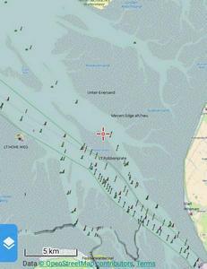 Karte Wesermündung klein